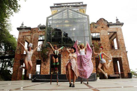 Parque das Ruínas recebe feira de fantasias para o Carnaval