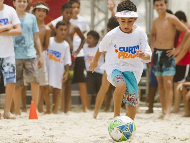 futebol | Curta, Praia
